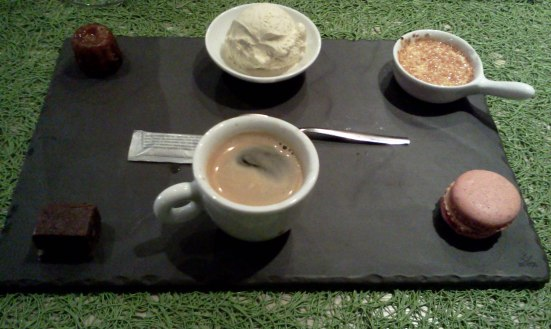 Le café gourmand de chez Little Princess à Hossegor