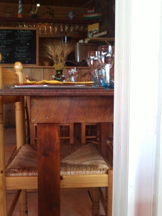 Entrée de la Chaloupe restaurant au port de Capbreton