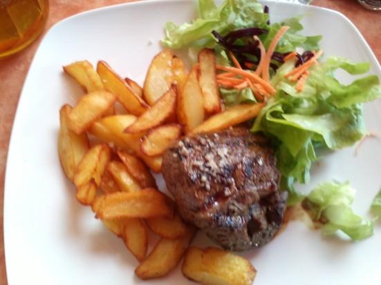 Pavé de Rumsteak et frites maison à la Chaloupe (Capbreton)