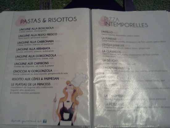 Menu little Princess Hossegor