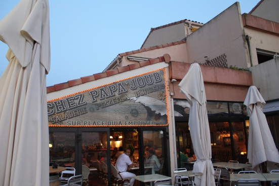 Terrasse restaurant Papa Joub à Capbreton