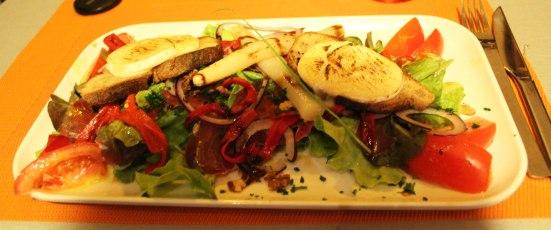 Salade chèvre chaud Otxoko à Capbreton