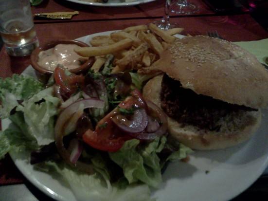 Burger du Vintage Avenue cafe à Hossegor