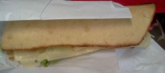 Sandwich Chiapatta du Beach Break à Hossegor