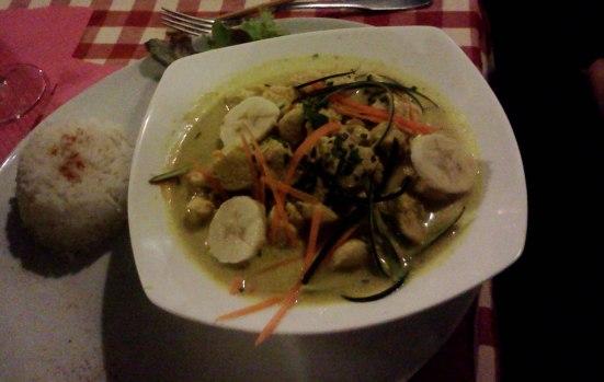 Poulet Curry Coco Café de la gare à Capbreton