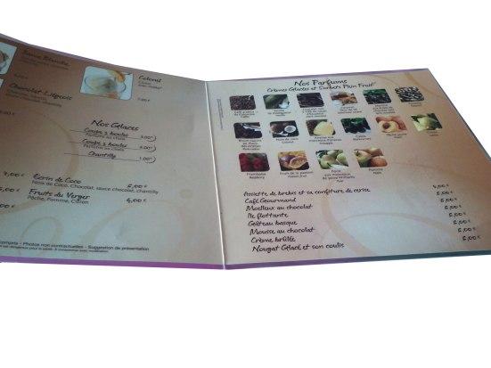 Carte des desserts Restaurant estacade capbreton