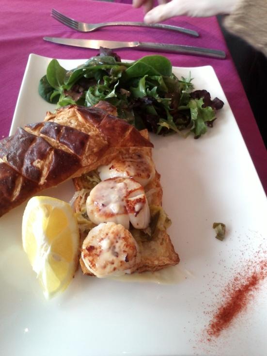 Feuilleté Saint-jacques Restaurant estacade capbreton