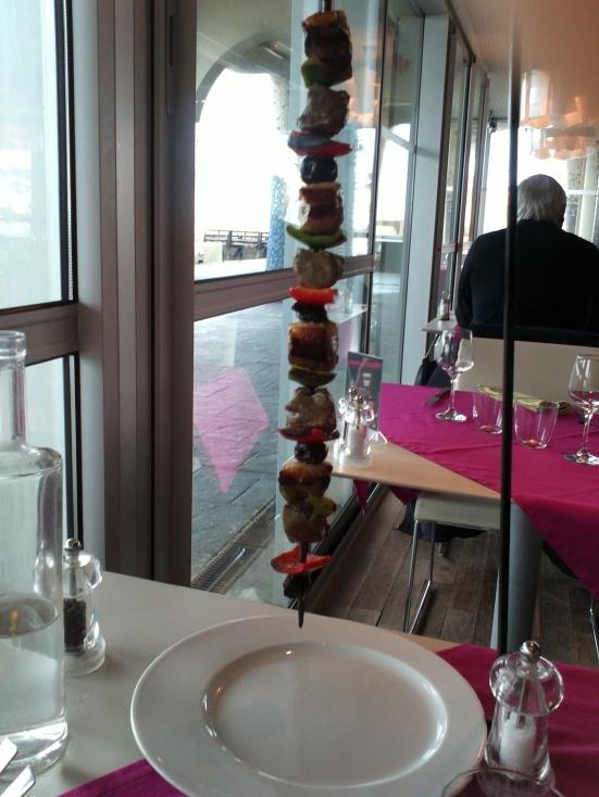 le ph'art la brochette boeuf et canard restaurant Estacade Capbreton