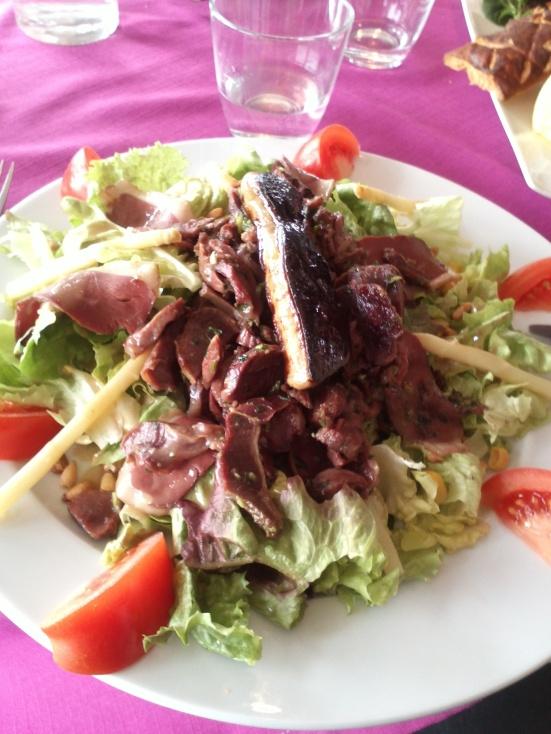 salade landaise restaurant estacade capbreton
