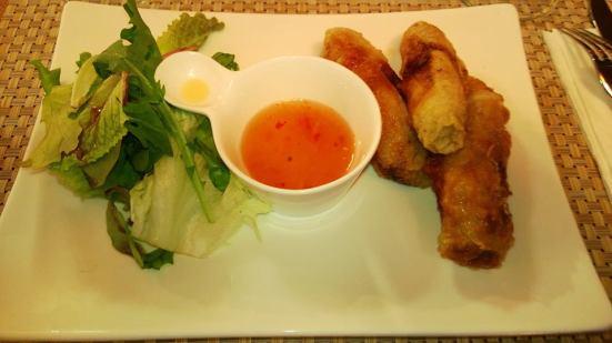 Les nems du restaurant le Thai landais à Capbreton