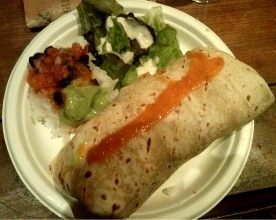 Burrito au Poulet Restaurant 45 avenue du penon à seignosse