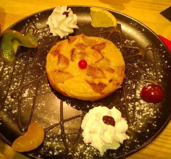 Clafoutis pomme / poire Restaurant O'petits Oignons