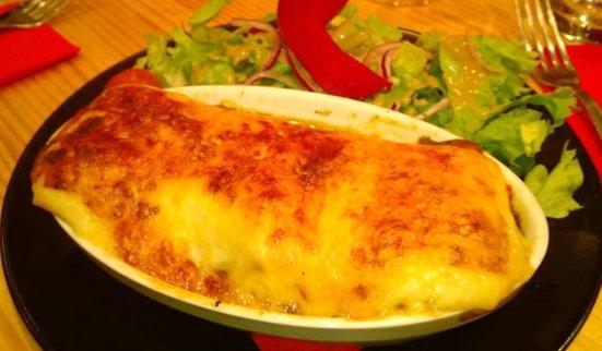 Lasagne au chèvre Restaurant O'petits Oignons