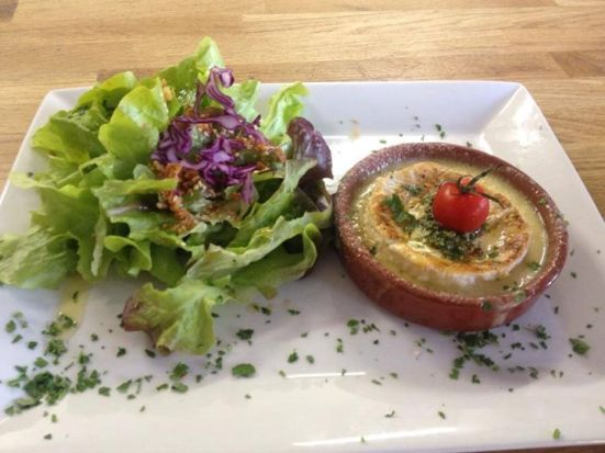camembert rôti à la persillade feeling restaurant hossegor