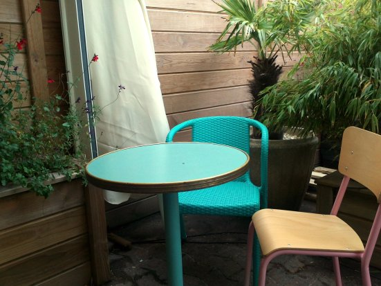 derniere table du café bleu à hossegor