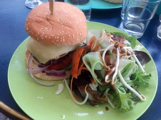 le burger du café bleu, café à hossegor centre