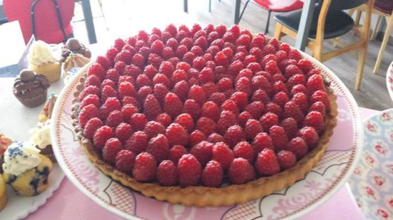 tarte chocolat framboise de made with love salon de thé capbreton