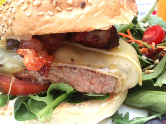 zoom sur le burger de made with love