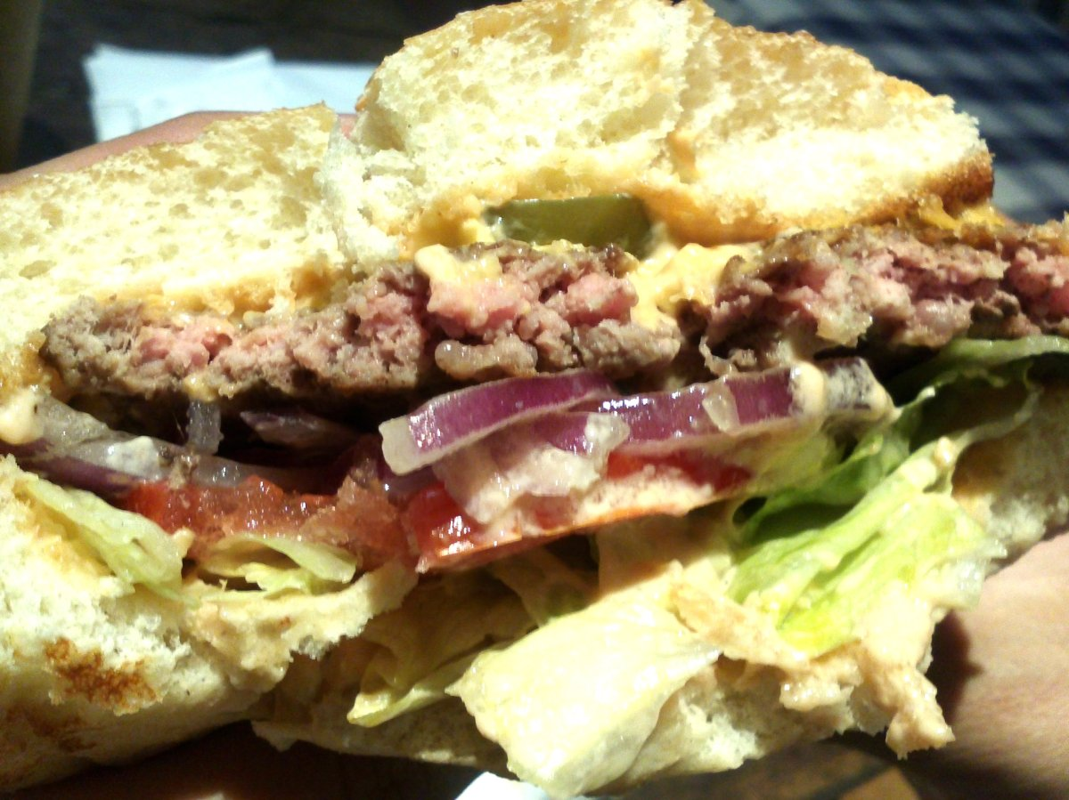 un burger de happy burger hossegor