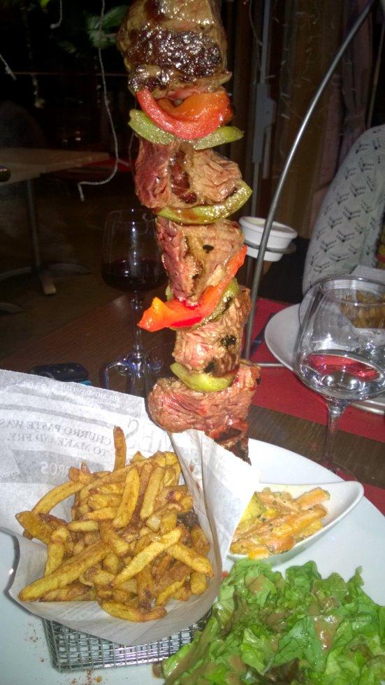brochette-onglet-boeuf-restaurant-escadron-flottant-hossegor
