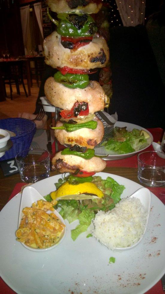 brochette du restaurant escadron flottant à Hossegor