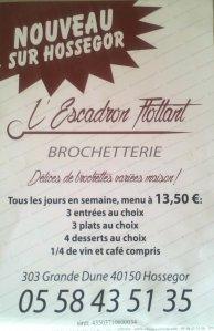 Ouverture du Restaurant l'Escadron Flottant à Hossegor