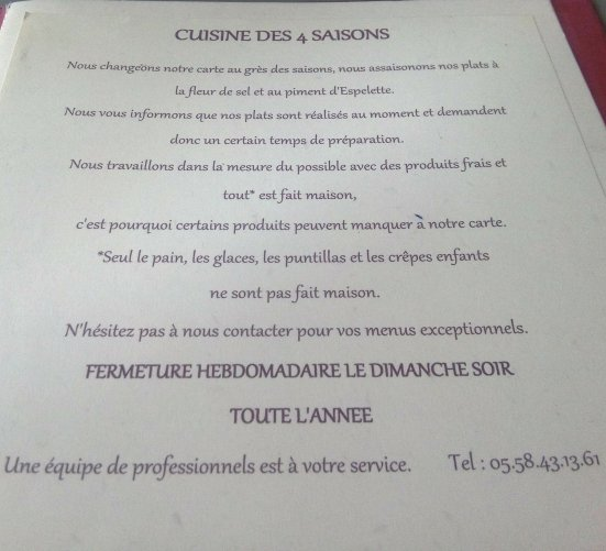 carte-menu-table-de-florence-seignosse
